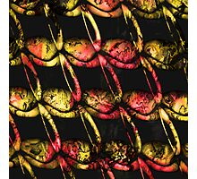 Army of misfits in red and yellow Photographic Print