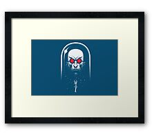 Mr. Freeze Framed Print