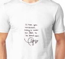 Taylor Swift Handwritten Quote Unisex T-Shirt
