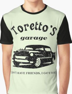 Toretto's Garage Car Graphic T-Shirt