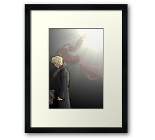 embrace of the angel Framed Print