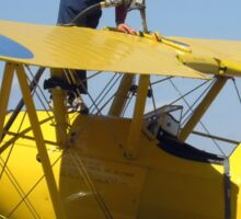 Refuel the aeroplane Boeing Stearman PT-27 Kadet. Sticker