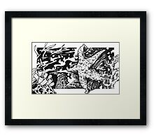 Tidal Pool Starfish Framed Print