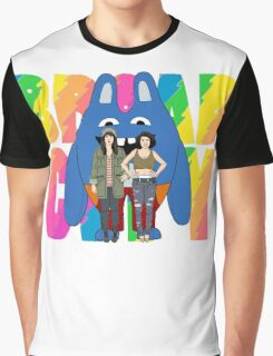 Broad City Abbi Ilana and Bingo Bronson Graphic T-Shirt