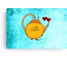 What my Tea says to me August 17, 2013 Canvas Print