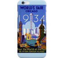 World's Fair Chicago 1934 advertising iPhone Case/Skin