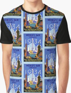 World's Fair Chicago 1934 advertising Graphic T-Shirt