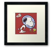 Snoopy Astronaut Framed Print