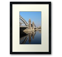 Old Bridge reflected in water Framed Print