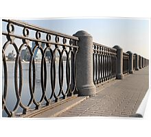 cast iron fence promenade Poster