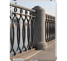 cast iron fence promenade iPad Case/Skin