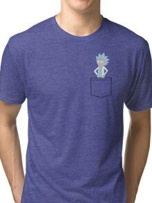 Tiny Rick Pocket! Tri-blend T-Shirt