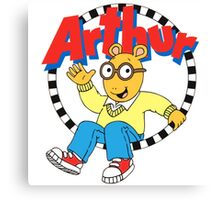 Funny Arthur Canvas Print