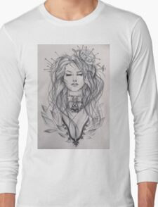 Curly haired girl Long Sleeve T-Shirt