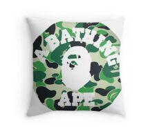 Camo Ape Throw Pillow