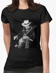 stevie ray Womens Fitted T-Shirt