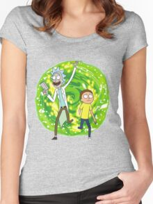 /*/Rick and Morty/*/ Women's Fitted Scoop T-Shirt