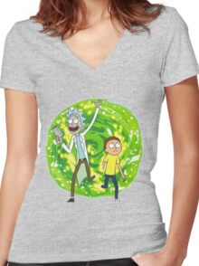 /*/Rick and Morty/*/ Women's Fitted V-Neck T-Shirt