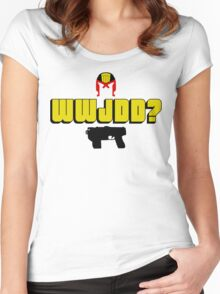 WWJDD? Women's Fitted Scoop T-Shirt