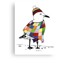 Chilli the Seagull T-shirt Canvas Print