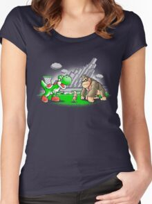 King donkey Women's Fitted Scoop T-Shirt