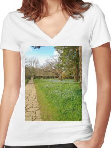 Up the garden path Women's Fitted V-Neck T-Shirt