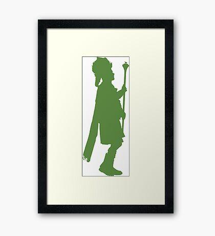 Pipe Band Leader Silhouette Framed Print