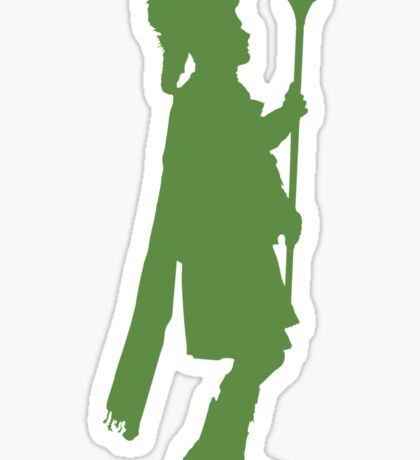 Pipe Band Leader Silhouette Sticker