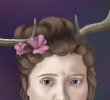 Antler Portrait 1 Sticker
