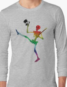 Depression Skeleton: Showtime! ROYGBIV Long Sleeve T-Shirt