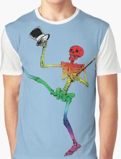 Depression Skeleton: Showtime! ROYGBIV Graphic T-Shirt