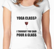 Yoga Class Glass Women's Fitted Scoop T-Shirt