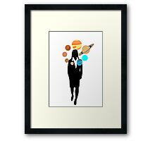 Space on the Mind - Lady Framed Print