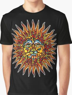 Psychedelic Sun Graphic T-Shirt
