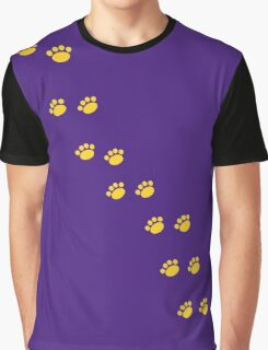 Cat Paw Prints Graphic T-Shirt