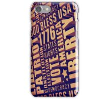 Patriotic Typography iPhone Case/Skin