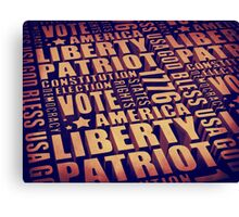 Patriotic Typography Canvas Print