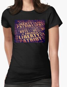Patriotic Typography Womens Fitted T-Shirt