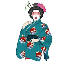 Geisha Girl Photographic Print