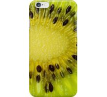 Green Kiwi Fruit Slice Fresh Slices Kiwis iPhone Case/Skin