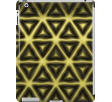 Gold and Dark Hexagon in Tribal Design iPad Case/Skin