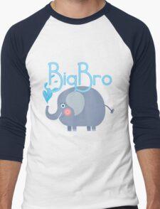 Siblings Family Elephant Big Bro Men's Baseball ¾ T-Shirt