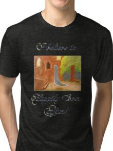 Cinderella's Arrival, I believe in Happily Ever After! Tri-blend T-Shirt