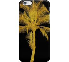Gold Palm Tree Faux Glitter Metallic Foil Tropical Palms Black iPhone Case/Skin