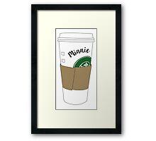 Minnie Coffee Cup Framed Print