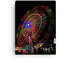 Ferris Wheel in Motion - Luna Park, Sydney Canvas Print