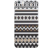 Scandinavian knitted pattern  iPhone Case/Skin