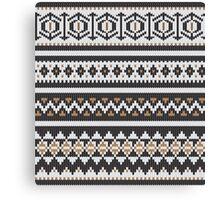 Scandinavian knitted pattern  Canvas Print