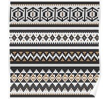 Scandinavian knitted pattern  Poster