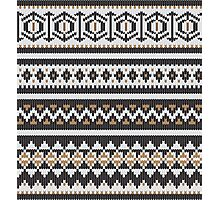 Scandinavian knitted pattern  Photographic Print